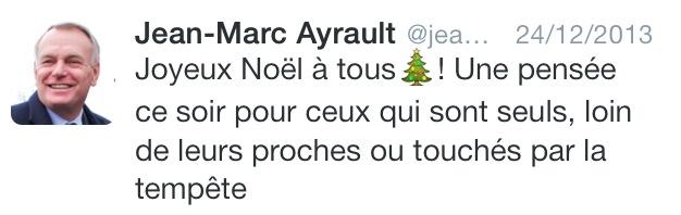 ayrault tweet noël nonobstant écrivain public nantes smiley